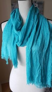 Accessories - Gorgeous teal scarf with sequins